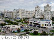 Купить «Москва, современная городская застройка в районе Марьино», фото № 25859373, снято 9 сентября 2016 г. (c) glokaya_kuzdra / Фотобанк Лори