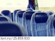Купить «travel bus interior and seats», фото № 25859933, снято 21 октября 2015 г. (c) Syda Productions / Фотобанк Лори