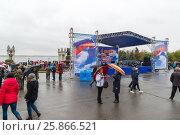Купить «Празднование Дня народного единства в Волгограде», фото № 25866521, снято 4 ноября 2016 г. (c) Володина Ольга / Фотобанк Лори