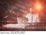 Купить «Composite image of stocks and shares», фото № 25875397, снято 17 июля 2018 г. (c) Wavebreak Media / Фотобанк Лори