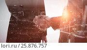 Купить «Composite image of high angle view of illuminated cityscape», фото № 25876757, снято 21 января 2020 г. (c) Wavebreak Media / Фотобанк Лори