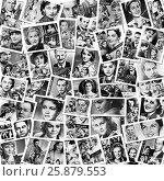 Купить «Популярные актёры Советского кино. Коллаж из старых открыток», иллюстрация № 25879553 (c) Евгений Мухортов / Фотобанк Лори
