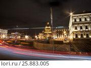 Купить «Ночной Петербург», фото № 25883005, снято 25 ноября 2016 г. (c) Владимир Попков / Фотобанк Лори