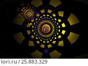 Желто-черный фон с шарами и симметрией. Стоковая иллюстрация, иллюстратор Дмитрий Тищенко / Фотобанк Лори
