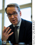 Купить «Berlin, Germany. March 25th, 2014. Press Talk between VAP members and Dr. Jens Weidmann, president of the German Central Bank, realized at German Central...», фото № 25894637, снято 6 августа 2020 г. (c) age Fotostock / Фотобанк Лори