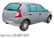 Купить «Modern car technical draw», иллюстрация № 25897637 (c) Илья Малов / Фотобанк Лори
