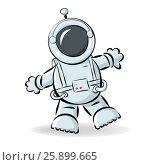 Astronaut. Стоковая иллюстрация, иллюстратор Елена Беззубцева / Фотобанк Лори