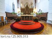 Interior of Riga Cathedral. Riga, Latvia. Редакционное фото, агентство BE&W Photo / Фотобанк Лори