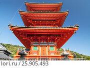Купить «Kiyomizu Dera temple in Kyoto , Japan», фото № 25905493, снято 20 июля 2019 г. (c) BE&W Photo / Фотобанк Лори