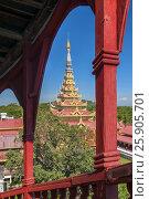 Купить «The Mandalay Palace, located in Mandalay, Myanmar, is the last royal palace of the last Burmese monarchy», фото № 25905701, снято 20 мая 2019 г. (c) BE&W Photo / Фотобанк Лори