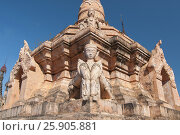Купить «Kakku pagodas are nearly 2500 beautiful stone stupas hidden in a remote area of Myanmar near the lake Inle. This sacred place is on the territory of the PaO people. Shan state, Myanmar», фото № 25905881, снято 27 мая 2019 г. (c) BE&W Photo / Фотобанк Лори