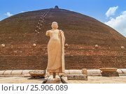 Купить «Jetavanaramaya dagoba in the ruins of Jetavana in the sacred world heritage city of Anuradhapura, Sri Lanka», фото № 25906089, снято 16 октября 2018 г. (c) BE&W Photo / Фотобанк Лори