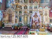 Купить «Interior of the Orthodox church in Puchly (Puchіy) village north-eastern Poland», фото № 25907605, снято 23 октября 2019 г. (c) BE&W Photo / Фотобанк Лори