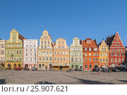 Купить «Beautiful historical tenement houses at Old Market Square in the Old Town in Wroclaw, Poland», фото № 25907621, снято 22 апреля 2019 г. (c) BE&W Photo / Фотобанк Лори