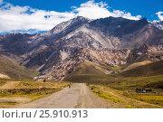 Купить «View of Andes mountains, Valle Hermoso», фото № 25910913, снято 9 февраля 2017 г. (c) Яков Филимонов / Фотобанк Лори