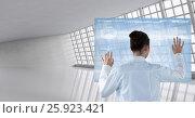 Купить «Doctor ( woman) using futuristic tactile screen at the hospital», фото № 25923421, снято 19 марта 2019 г. (c) Wavebreak Media / Фотобанк Лори