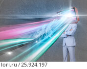 Купить «lights go out of the tv head», фото № 25924197, снято 19 июня 2019 г. (c) Wavebreak Media / Фотобанк Лори