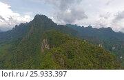 Купить «Aerial view on mountains of Khao Sok National Park», видеоролик № 25933397, снято 16 января 2017 г. (c) Михаил Коханчиков / Фотобанк Лори