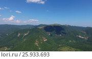 Aerial view on Caucasus mountains at summer. Стоковое видео, видеограф Михаил Коханчиков / Фотобанк Лори