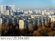 Москва, жилая застройка в районе Чертаново Северное, вид сверху. Редакционное фото, фотограф glokaya_kuzdra / Фотобанк Лори