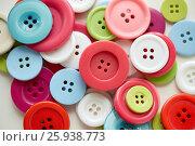 Купить «many sewing buttons», фото № 25938773, снято 29 сентября 2016 г. (c) Syda Productions / Фотобанк Лори