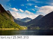 Купить «Geiranger fjord, Norway.», фото № 25941313, снято 22 июля 2016 г. (c) Андрей Армягов / Фотобанк Лори