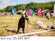 Купить «Традиционные народные соревнования по рубке казачьей шашкой», фото № 25941661, снято 18 июня 2016 г. (c) FotograFF / Фотобанк Лори