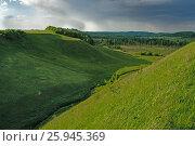 Купить «Зелёные холмы русской равнины», фото № 25945369, снято 18 августа 2018 г. (c) Сергей Бойков / Фотобанк Лори