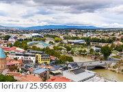 Купить «View of city center Tbilisi. Georgia», фото № 25956693, снято 24 сентября 2016 г. (c) Elena Odareeva / Фотобанк Лори
