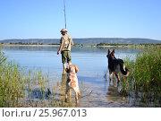 Рыбалка с собаками (2014 год). Редакционное фото, фотограф София Тюленева / Фотобанк Лори