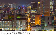 Купить «Night downtown  Cityscape Timelapse Singapore», видеоролик № 25967057, снято 23 марта 2019 г. (c) Кирилл Трифонов / Фотобанк Лори