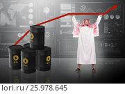 Купить «Arab businessman supporting oil price», фото № 25978645, снято 17 июня 2019 г. (c) Elnur / Фотобанк Лори