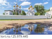 Купить «Никольский женский монастырь с отражением в Переславле-Залесском», фото № 25979445, снято 11 июня 2014 г. (c) Дмитрий Тищенко / Фотобанк Лори