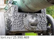 Купить «Деталь декора лафета Царь-пушки в Московском Кремле», фото № 25990469, снято 7 сентября 2016 г. (c) Pukhov K / Фотобанк Лори
