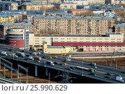 Купить «Москва, вид сверху на Кутузовский проспект и Третье Транспортное Кольцо», фото № 25990629, снято 11 декабря 2019 г. (c) glokaya_kuzdra / Фотобанк Лори