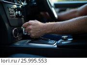 Купить «Close up of man driving car», фото № 25995553, снято 3 февраля 2017 г. (c) Wavebreak Media / Фотобанк Лори