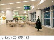 Кафе в новом современном международном терминале аэропорта города Ашхабад. Туркменистан (2016 год). Редакционное фото, фотограф Виктор Карасев / Фотобанк Лори