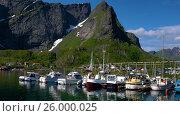 Купить «Lofoten archipelago islands», видеоролик № 26000025, снято 27 марта 2017 г. (c) Андрей Армягов / Фотобанк Лори