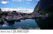 Купить «Lofoten archipelago islands», видеоролик № 26000029, снято 27 марта 2017 г. (c) Андрей Армягов / Фотобанк Лори