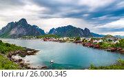 Купить «Timelapse Lofoten archipelago islands», видеоролик № 26000345, снято 24 марта 2017 г. (c) Андрей Армягов / Фотобанк Лори