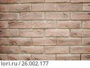 Купить «Gray brickwork», фото № 26002177, снято 16 апреля 2017 г. (c) Акоп Васильян / Фотобанк Лори