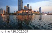 Купить «The evening Tianjin, the Haihe river. China», видеоролик № 26002569, снято 12 апреля 2017 г. (c) Яна Королёва / Фотобанк Лори