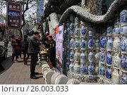 Купить «Фарфоровый дом в Тяньцзине. Китай», фото № 26003033, снято 9 апреля 2017 г. (c) Яна Королёва / Фотобанк Лори