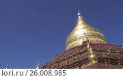 Купить «Dhamma ya zi ka Pagoda in Bagan, Myanmar», видеоролик № 26008985, снято 10 ноября 2016 г. (c) Михаил Коханчиков / Фотобанк Лори