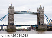 Тауэрский мост (Tower Bridge) а Лондоне (2017 год). Стоковое фото, фотограф Анна Менщикова / Фотобанк Лори