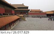 Купить «Beijing. The Palace Museum, Forbidden city», видеоролик № 26017829, снято 3 апреля 2017 г. (c) Яна Королёва / Фотобанк Лори