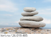 Купить «Piled on top of each other the stones», фото № 26019485, снято 25 июня 2011 г. (c) Tatjana Romanova / Фотобанк Лори