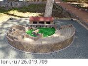 Купить «Античный амфитеатр. Бахчисарайский парк миниатюр.», фото № 26019709, снято 1 августа 2014 г. (c) Акоп Васильян / Фотобанк Лори