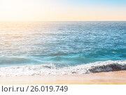 Купить «Seafoam on the coast with water surface on the background», фото № 26019749, снято 26 октября 2016 г. (c) Юрий Губин / Фотобанк Лори