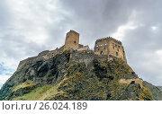 Купить «Khertvisi fortress on mountain. Georgia», фото № 26024189, снято 29 сентября 2016 г. (c) Elena Odareeva / Фотобанк Лори